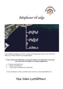 Båtplasser til salgs